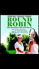 Thursday night Sydney social tennis round robin competition May 5 Rose Bay Eastern Suburbs Preview