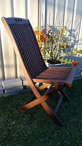 Chairs, outdoor dining,hardwood,folding,set 6 Bonnells Bay Lake Macquarie Area Preview