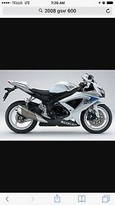 2008 GSXR 600 Mint!!! Only 3200 kms