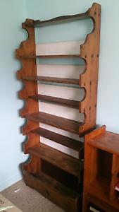 Solid timber bookcase Golden Beach Caloundra Area Preview
