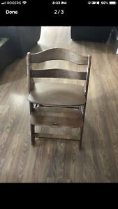 Wooden high chair for sale with tray