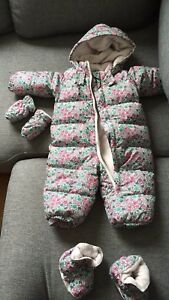 6-12 month EUC gap snowsuit