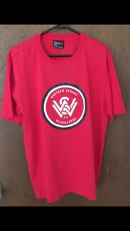 BRAND NEW WESTERN SYDNEY WANDERERS Supporters T Shirt Size Large