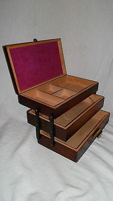 Nähkasten  Nähtisch  Sewing Box Nähkorb  Art Deco