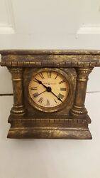 Howard Miller Roman Numeral Table Clock Model 645-539 5.5*5.5*2.25 Antique