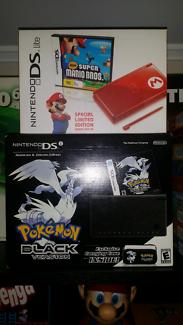 Boxed Pokemon Black DS And Boxed Super Mario DS