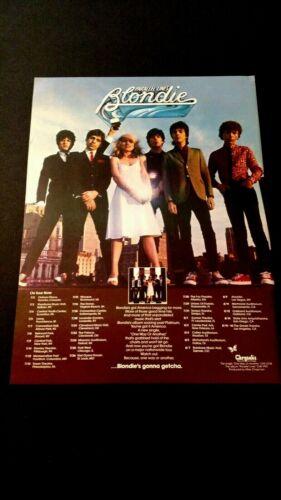 "BLONDIE  "" PARALLEL LINES "" 1979  RARE ORIGINAL PRINT PROMO POSTER AD"