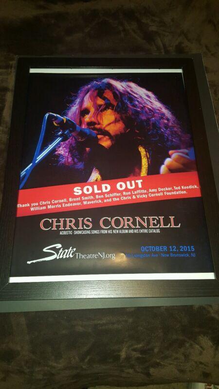 Chris Cornell State Theater NJ Rare Original Box Office Promo Poster Framed!