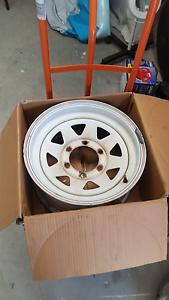 4x White sunraysia rims 15x7 inch Tenambit Maitland Area Preview
