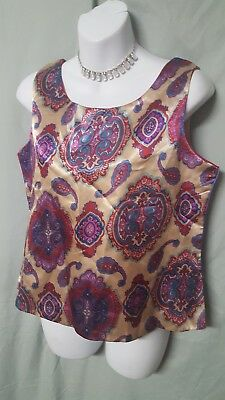 4 Way Cami (4 WAY REVERSIBLE MULTICOLOR CAMISOLE SHIRT PLUS SIZE SMALL GIFT  38