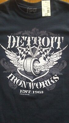 NEW DETROIT IRONWORKS T SHIRT..SIZE SMALL.SEARS CLOSEOUT. Iron Works T-shirt