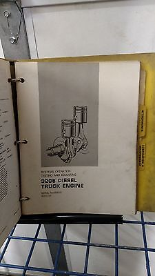 Caterpillar 3208 Diesel Truck Engine Service Manual 40s1-up