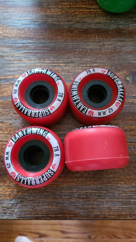 NOS Earthwing Superballs Longboard Wheels - 62mm 78a