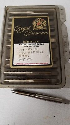 Lot of 10 Regal 1/4-28 NF Spiral Point Plug Tap GH3 2FL HSS USA