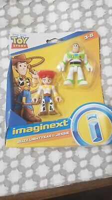 Fisher-Price IMAGINEXT Toy Story 4 Buzz Lightyear and Jesse Figure 2 Pack new