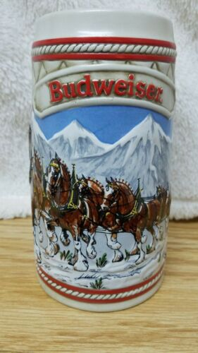 "Budweiser 1985 Collector's ""A"" Series Beer Stein/mug/cup"