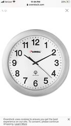 Lorell Radio Controlled Rnd Wall Clock, Most Accurate Wall Clock, ManCave, Home,