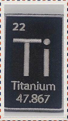 TITANIUM TI  MORALE PATCH PERIODIC TABLE ELEMENT 47.876 ATOM TACTICAL (Periodic Table Canada)