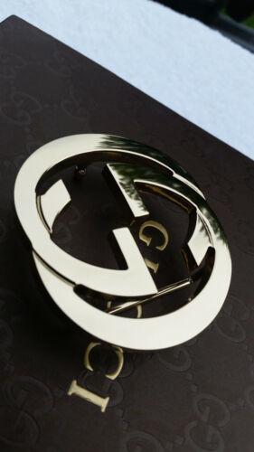 Authentic Golden Gucci Interlocking Double G Belt Designer Buckle