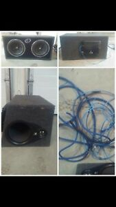 Kicker subs, amp, and wiring