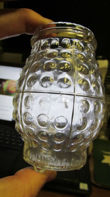 CLEAR 1890s CHICAGO CANDLE CO VICTORIAN FAIRY LIGHT CHRISTMAS LAMP LANTERN ILL