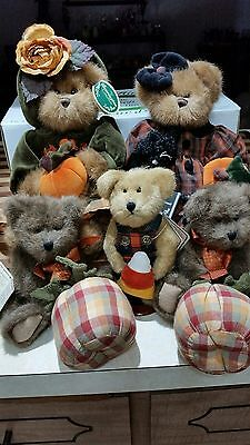 Bearington Bears Autumn Harvester And Trick Or Treat & 3 Boyds Bears