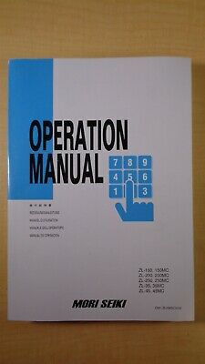 Mori Seiki Zl 150 200 250 Mc 35 45 Operation Manual 7d B4