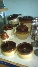 Set – sugar pot with lid, jug and 2 bowls, new Miranda Sutherland Area Preview