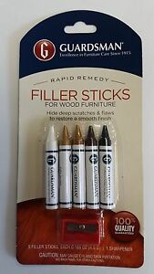 Guardsman Furniture Wood Filler Stick Repair Kit Fills Wood Scratches Holes