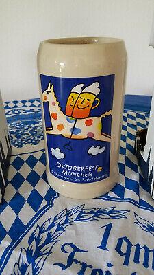 Official 1999 Oktoberfest Rastal 1Liter Beer Stein Mug Munich Germany