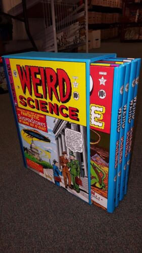 EC Weird Science Complete 4 Volume HC Box Slipcase Set Russ Cochran 1980
