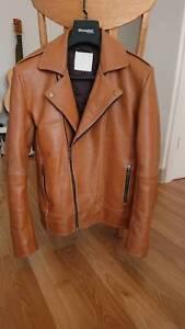 Brown Men's Leather Jacket North Melbourne Melbourne City Preview