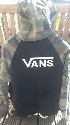 Vans off the wall hoodie camouflage army Large great condition