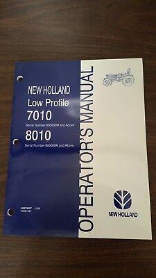 New Holland 7010 8010 Tractor Operators Manual. Part 86579557.