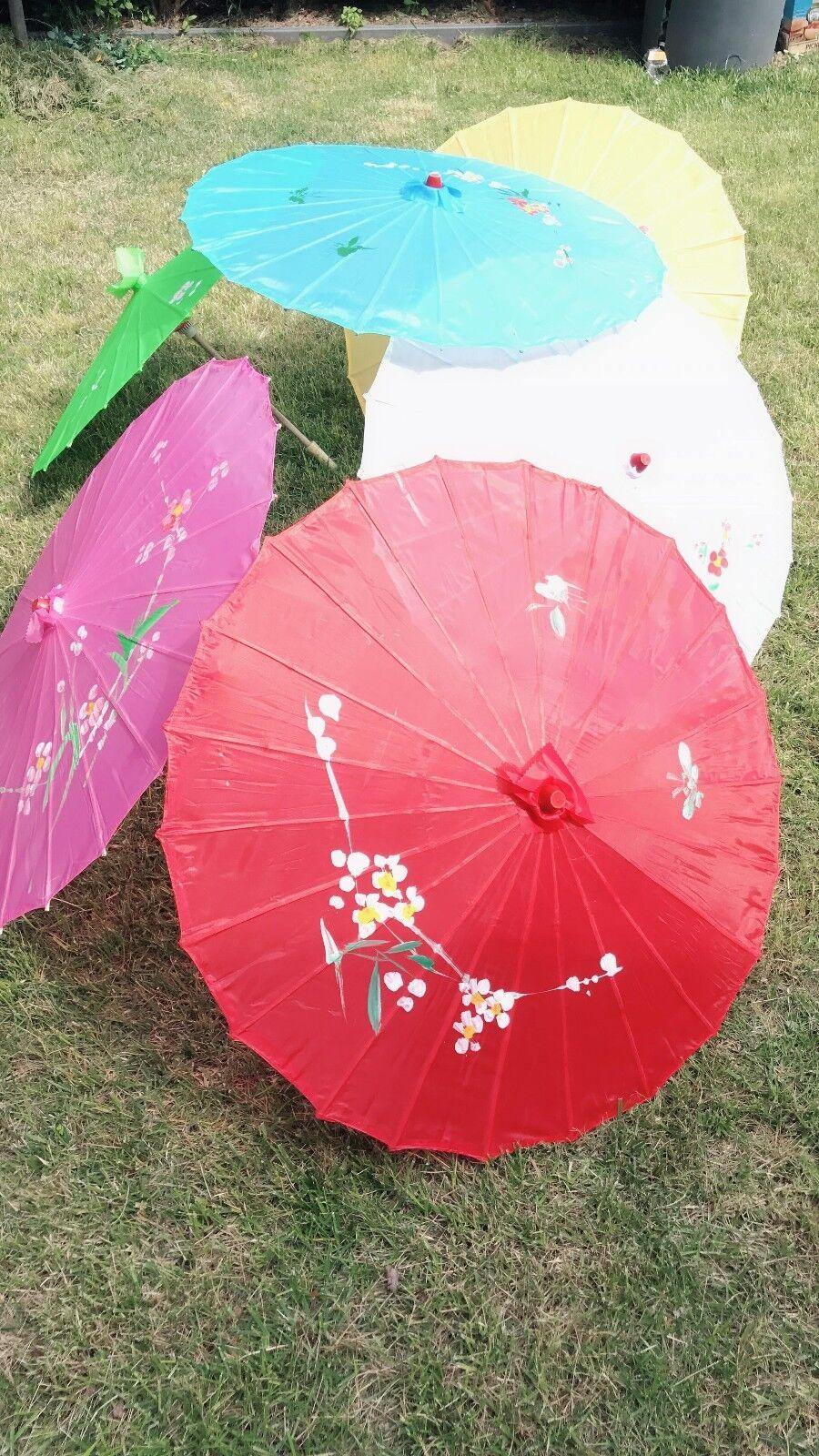 Lot of 12 MIX COLOR Flower Pattern Dancing Umbrella Parasol