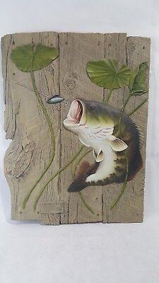 G Turner Largemouth Bass Foam Wall Carving No 1157/2000 1993 Bait Shop Man Cave