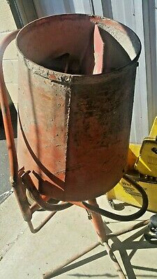 Emerson Electric Cement Barrel Mixer 110v 14 Hp Used