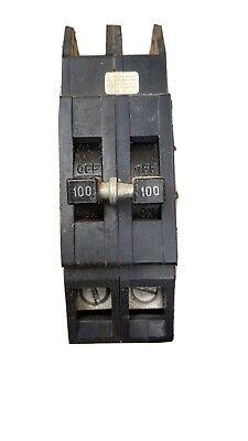 Zinsco Ubiz-2100 Ubiz2100 100 Amp 2 Pole Circuit Breaker Thick Series Used