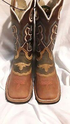 f2f3656f54e Cowboy Rodeo Western  Bota Rodeo El General Mexican Boot USA 4.5 New