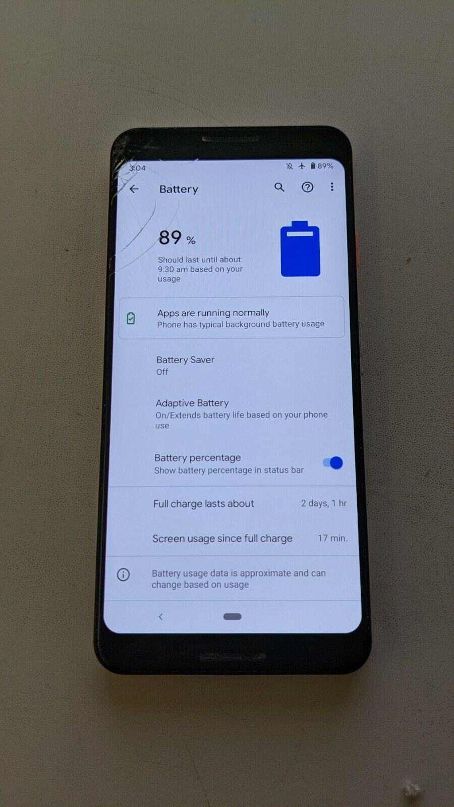 Android Phone - Google Pixel 3 64GB 4G/LTE Android Mobile Phone | CRACKED SCREEN + CRACKED BACK