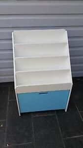 White and Blue timber bookcase + chalkboard Burwood Burwood Area Preview