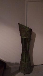 Balinese wicker lampshade.