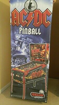 "ACDC Original STERN Factory Pinball Banner -  approx 2' W  x 5' 2"" H"