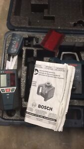 Bosch laser level and accessories