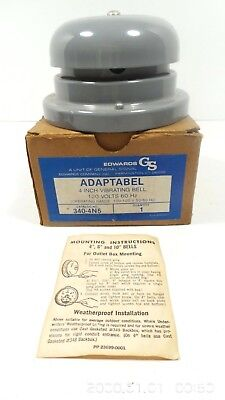 Vintage Edwards Signal Adaptabel 4 Vibrating Bell Alarm 340-4n5 In Box Usa