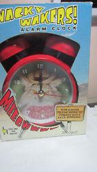 Mark Feldstein Wacky Wakers Cowboy Kitty Alarm Clock NEW
