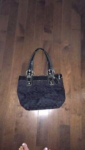Beautiful black coach purse