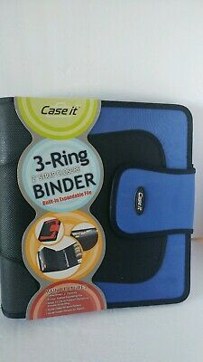 Case-it 3 Binder 3 - 2 Strap Closure.5 Color Tab Expanding File.cd Holder New