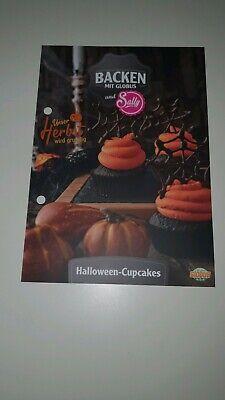 Backen mit Globus und Sally Rezeptkarte Halloween Cupcakes