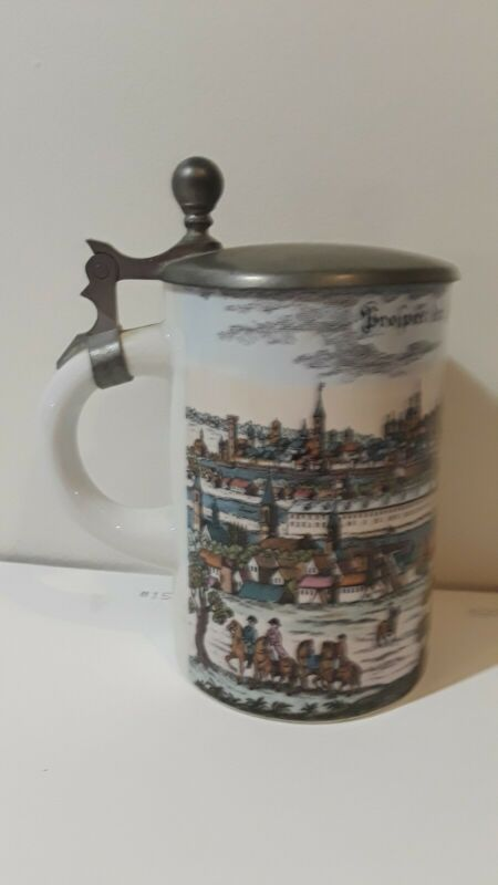 """Der Saupt Munchen In Baiern"" Vintage Pewter Beer Lidded Stein Made in GERMANY"